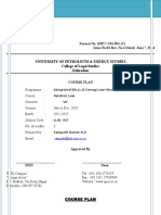 Course Plan, Assignment Project 2015