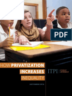 How Privatization Increases Inequality Report September 2016