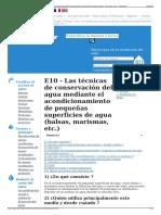 E10 - Las Técnicas de Conservación Del Agua Mediante El Acon