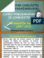 Pengantar Linguistik Ferdinand de Saussure