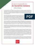 """Manifiesto para un """"PSOE catalán"""""""