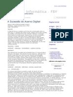 A Sucessão Do Acervo Digital - Direito Da Informática - FBV
