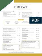 Elite Cafe Menu
