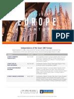 Independence Europe Deployment Flyer 2017 2018