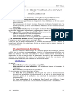 Chapitre 3 Organisation Du Service Maintenance
