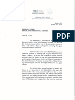 Carta Peña a Trump