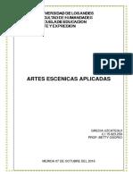 ARTES ESCENICAS APLICADAS