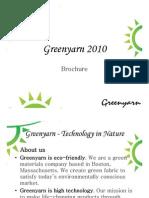 Greenyarn Brochure 2010 - 2011
