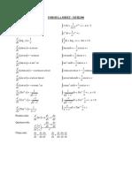 Formula Sheet MAT1300
