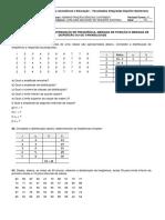 Lista de Exercícios II_Estatística Descritiva