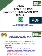 Akta Keselamatan Kesihatan Pekerjaan 1994