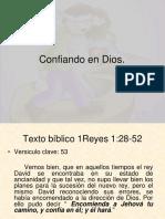 Confiando en Dios (1)