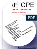 Advanced Grammar - Cae - Cpe