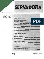 Revista Conservadora No. 20 May. 1962