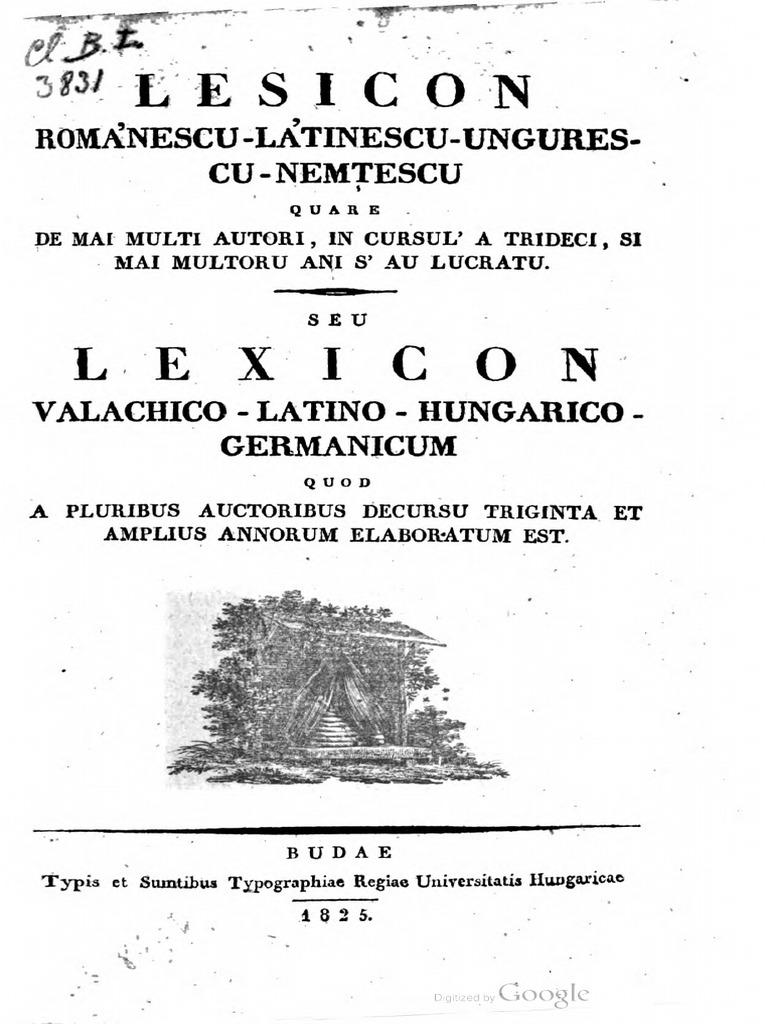 61cb15cf4a312 Lesicon Románescu Látinescu Ungurescu