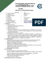 Silabo de Estadistica y Probabilidades - 2014