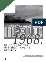 México 1968 El antagonismo del abajo con el de arriba