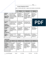 rubric-descriptive writing-setting