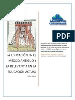 Historia Antigua de Mexico y la Educación