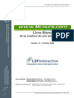 Livre Blanc de La Creation de Site Web Optimise