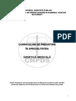 Curriculum RO Genetica Medicala