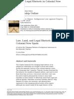Baber (2011) Law, Land, And Legal Rhetoric