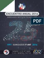 Revista EGRESADOS 1991 Instituto Tècnico UNT