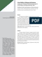 PAIXAO, C. BARBOSA, L. Origens da solucao parlamentarista.pdf