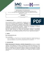 Administración Financiera y Gestión Presupuestaria