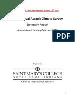 HEDS Sexual Assault Climate Survey