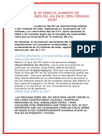 A Que Se Debio El Aumento de Reacudaciones Del Igv en El Peru Periodo 2016