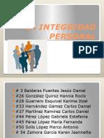La Integridad Personal