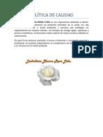 Politica de Calidad Ladrillera Blanca Rosa Ltda