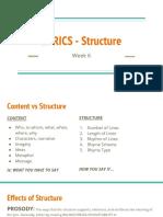 week 6 - lyrics - structure compressed