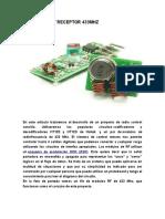 Transmisor y Receptor 433mhz