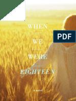 When We Were Eighteen -- Chapters 1, 2, part of 3