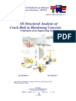 3D Strutural analysis of crack risk in hardening concrete