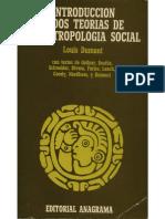 1. Introducción a Dos Teorías de La Antropología Social Louis Dumont