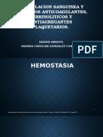 Coagulacion Sanguinea y Farmacos Anticoagulantes, Fibrinoliticos y