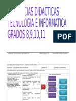 Secuencias Didacticas Tecnologia e Informatica Grados 8,9,10,11,