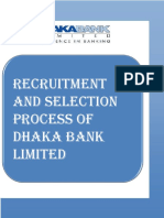 recruitment and selection process of Dhaka Bank