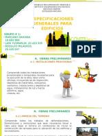 Especificaciones Generales Para Edificios