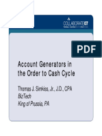 Acct Generators in the Order to Cash Cycle - Presentation