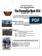Fire Prevention Flyer 2016