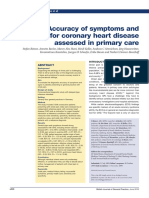 Accuracy of Symptoms and Signs for Coronary Heart Disease Assessed in Primary Care 2010