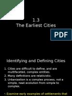 1.3 Earliest Cities