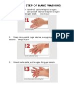 Step by Step of Hand Washing