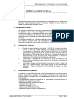 ESPECIFICACIONES TECNICAS LOSA E =15 CM