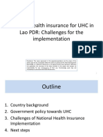 NHI4UHC Day 3 Session 6 National health insurance for UHC in Lao PDR