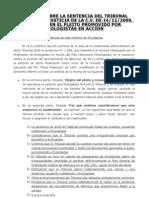 10 06 01 Informe Sobre Sentencia Ecologist As Patacona